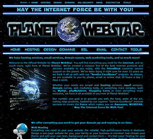 Go to our high security Design Pages to order at: my.planetwebstar.com/design